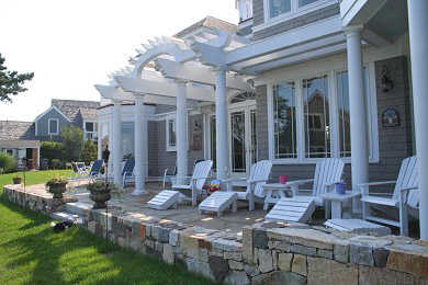 New Seabury, Mashpee New Seabury vacation rental - Custom stone patio with plenty of seats for admiring the view
