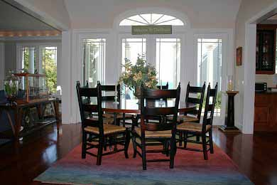 New Seabury, Mashpee New Seabury vacation rental - Round table dining for 8 overlooking Nantucket Sound