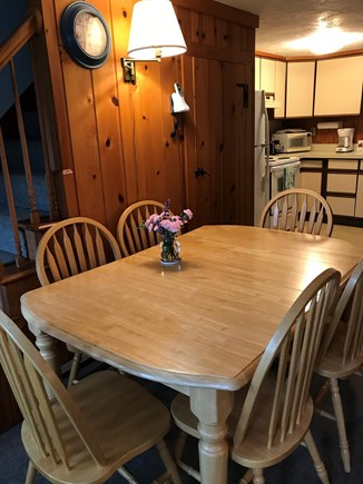 Dennis near Mayflower Beach Cape Cod vacation rental - Dining area with quintessential original knotty pine