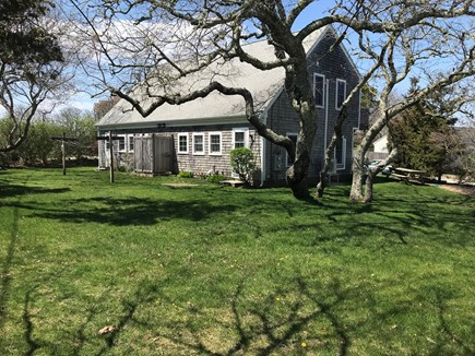 Dennis near Mayflower Beach Cape Cod vacation rental - Spacious back yard for relaxing or playing and outdoor shower