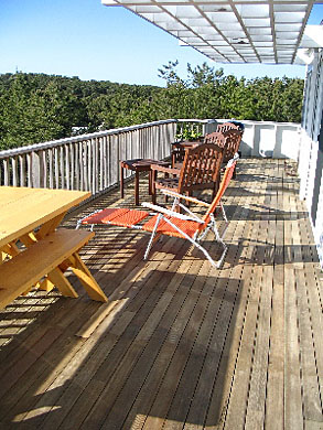 Wellfleet Cape Cod vacation rental - Expansive deck allows for relaxing and outdoor dining