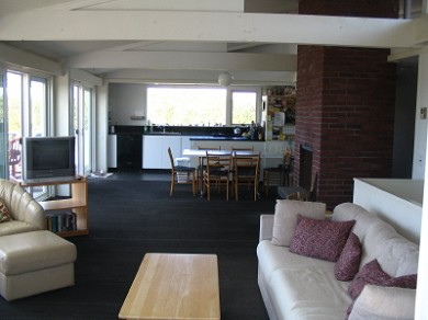 Wellfleet Cape Cod vacation rental - The main open living / fireplace / dining / kitchen areas