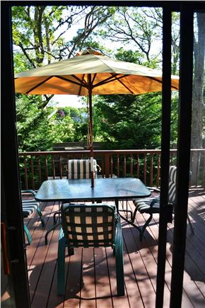 West Yarmouth Cape Cod vacation rental - Back deck