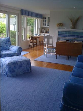 East Dennis/Sesuit Harbor Cape Cod vacation rental - Living Area with lots of light and great views