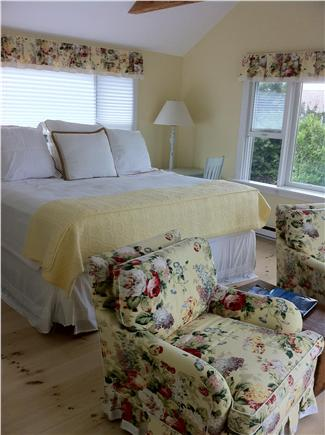 East Dennis/Sesuit Harbor Cape Cod vacation rental - Master :Bedroom with King bed and water view and separate bath