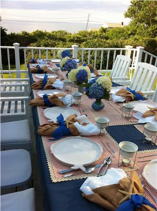 East Dennis/Sesuit Harbor Cape Cod vacation rental - Dinner is served with a water view