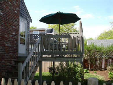 Hyannis Cape Cod vacation rental - Looking up at Deck