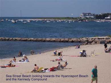 Hyannis Cape Cod vacation rental - Beach Looking Towards Hyannisport