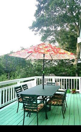 Wellfleet Cape Cod vacation rental - The deck with Crate & Barrel furniture