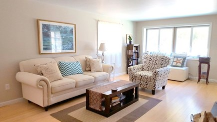 Wellfleet Cape Cod vacation rental - Large, open living room, with bay windows & lots of light