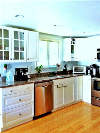 Wellfleet Cape Cod vacation rental - All white, large Kitchen w/granite & stainless appliances