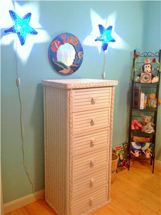 Wellfleet Cape Cod vacation rental - Star nightlights, books & toys, in 3rd bed w/bunk beds.