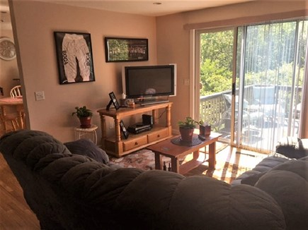 West Yarmouth Cape Cod vacation rental - Family Room leading to deck.