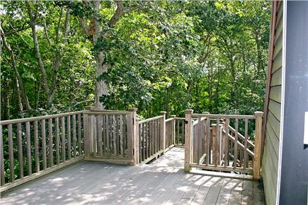Harwichport Cape Cod vacation rental - Serene private Upstairs Deck off Master Bedroom.