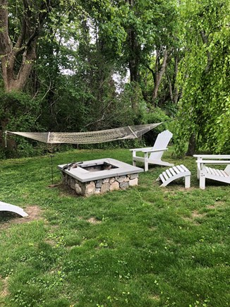 Osterville (In town) Osterville vacation rental - Fire pit and hammock