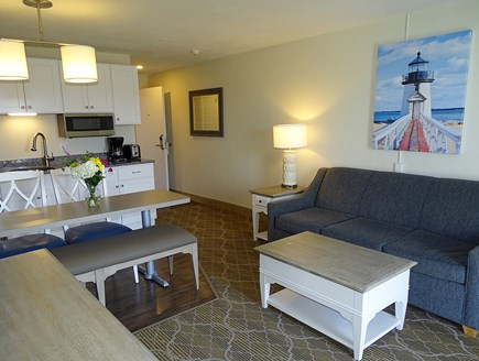 South Yarmouth Cape Cod vacation rental - Showing new kitchen appliances and dining table
