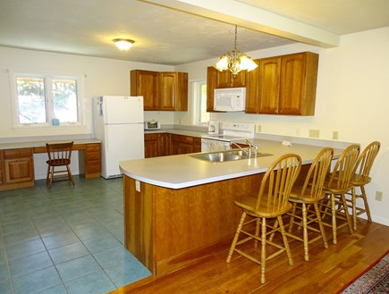 Harwich Cape Cod vacation rental - Large kitchen with breakfast bar seating