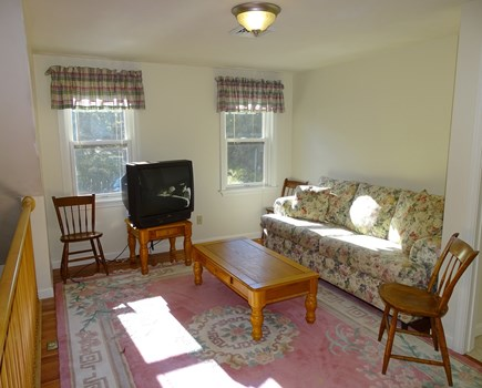 Harwich Cape Cod vacation rental - Upstairs sitting area with TV