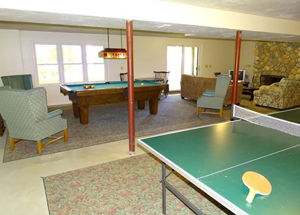 Harwich Cape Cod vacation rental - Downstairs Rec room w/ billiards, pink pong and TV area, walk-out