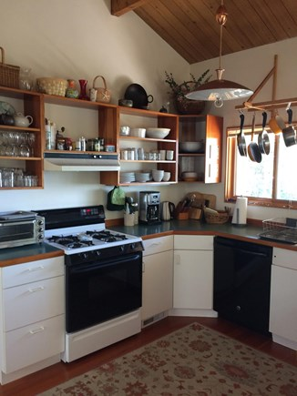 Wellfleet Cape Cod vacation rental - Partial view of kitchen (does not show spacous island counter)