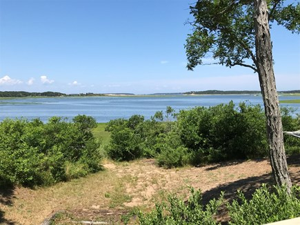 Wellfleet Cape Cod vacation rental - View standing on the deck at half-tide