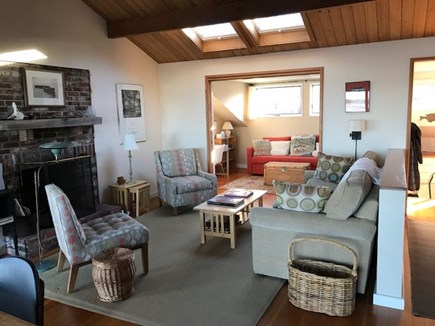 Wellfleet Cape Cod vacation rental - View across living room to TV/study
