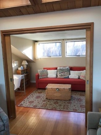 Wellfleet Cape Cod vacation rental - TV/study room which converts to private bedroom with pocket doors