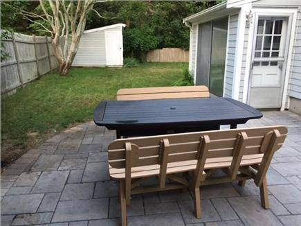 Falmouth Village Cape Cod vacation rental - You'll spend a lot of quiet time on our new patio.