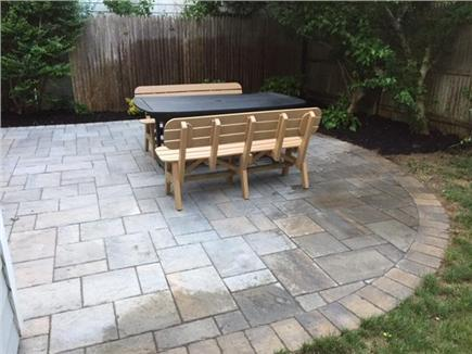 Falmouth Cape Cod vacation rental - We just installed this new patio.  It is a great backyard space!