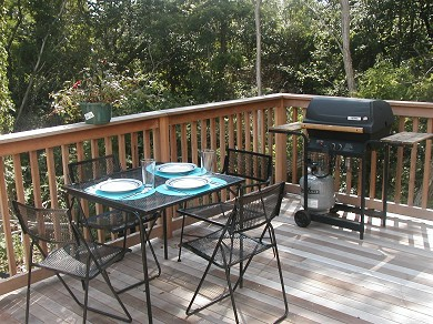 West Hyannisport Cape Cod vacation rental - Side deck is a nice place for drinks or meals