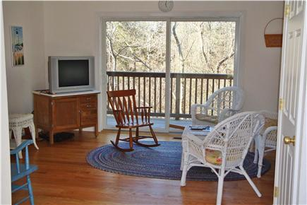 West Hyannisport Cape Cod vacation rental - View of family room. Laundry closet  is to the left.