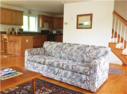 West Hyannisport Cape Cod vacation rental - Great room opens as Kitchen-Dining-Living.Note Queen sleeper sofa