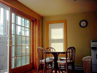 Provincetown Cape Cod vacation rental - View from living room to dining area and deck