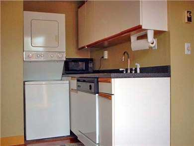 Provincetown Cape Cod vacation rental - Kitchen with washer/dryer and dishwasher