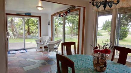West Yarmouth-Lewis Bay Cape Cod vacation rental - View from dining room into the kitchen.