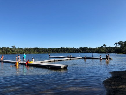 Eastham Cape Cod vacation rental - Great Pond lake with swimming docks