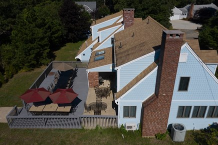 Eastham Cape Cod vacation rental - Aerial rear view of deck at our home.