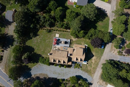 Eastham Cape Cod vacation rental - Aerial view of our beach and lake home!