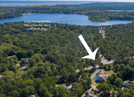Eastham Cape Cod vacation rental - Walk 3 minutes to Great Pond and Wiley Park across the street!