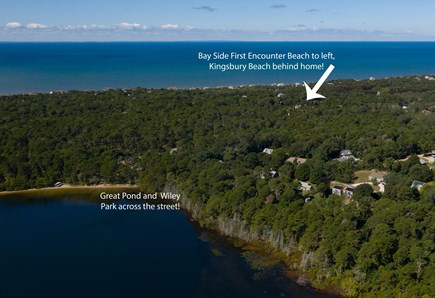Eastham Cape Cod vacation rental - Home in between the bay beach and kettle pond! Walking distance!