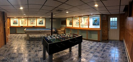 Eastham Cape Cod vacation rental - Gameroom downstairs main house - Fussball and Pool Table