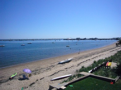 Provincetown Cape Cod vacation rental - View from third floor waterside deck