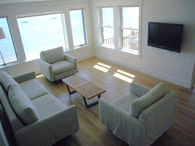 Provincetown Cape Cod vacation rental - Spacious living room overlooking the bay