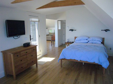 Provincetown Cape Cod vacation rental - Master suite with additional pull out sofa in back room
