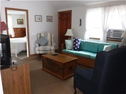 South Dennis Cape Cod vacation rental - Living Room with Queen Size Sleeper Sofa to streach and relax