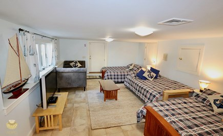 East Orleans Cape Cod vacation rental - Lounge with 3 Queen Sleep Futon's with Luxury Queen mattresses.