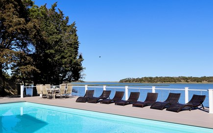 East Orleans Cape Cod vacation rental - Relax by the Pool and enjoy the panoramic views