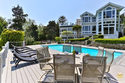 East Orleans Cape Cod vacation rental - View of the Luxury Estate from the heated Pool