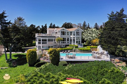 East Orleans Cape Cod vacation rental - Aerial View of the  luxury waterfront estate