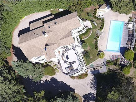 East Orleans Cape Cod vacation rental - Aerial view of the Luxury Waterfront Estate in East Orleans